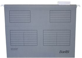 Bantex Suspension File A4 Retail Pack - Grey (Pack of 10)