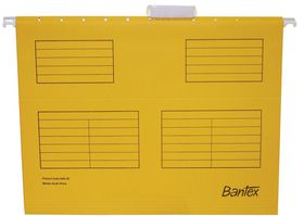 Bantex Suspension File A4 Retail Pack - Yellow (Pack of 10)