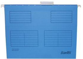 Bantex Suspension File A4 Retail Pack - Cobalt Blue (Pack of 10)