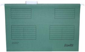 Bantex Suspension File Foolscap Retail Pack - Dark Green (Pack of 10)