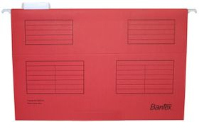 Bantex Suspension File Foolscap Retail Pack - Red (Pack of 10)