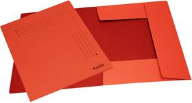 Bantex 3 Flap Document Smart Folder - Red (Pack of 10)
