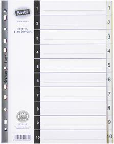 Bantex A4 10 (1-10) Division P.P File Dividers