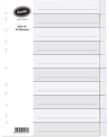 Bantex A4 10 Division Manilla Board File Dividers