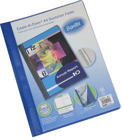 Bantex Create-A-Cover A4 Quotation Folder - Blue