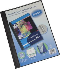 Bantex Create-A-Cover A4 Quotation Folder - Black
