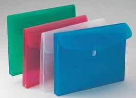 Bantex Polypropylene A4 Expandable Envelopes - Grass Green (Pack of 5)
