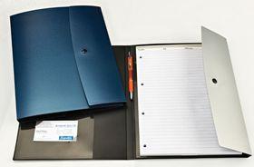 Bantex Ambassador Range Writing Folder - Silver