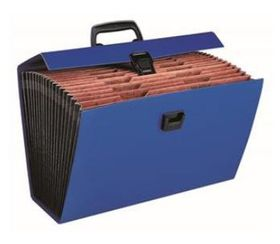 Bantex Economy Foolscap Expanding File - Cobalt Blue (19 Compartment)