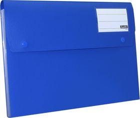 Bantex A4 P.P Expanding File - 6 Partitions - Cobalt Blue