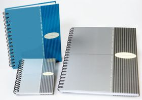 Bantex Noted Hardcover Spiral Notebook - A4 Silver