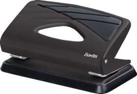 Bantex Small Home 2 Hole Punch  - Black