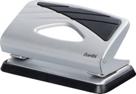 Bantex Small Home 2 Hole Punch  - Silver