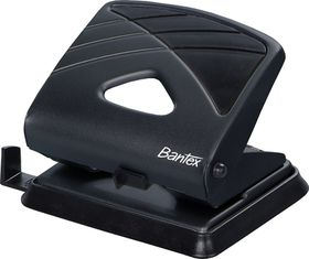 Bantex Office 2 Hole Metal Perforator - Black
