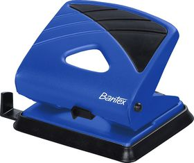 Bantex Office 2 Hole Metal Perforator - Cobalt Blue