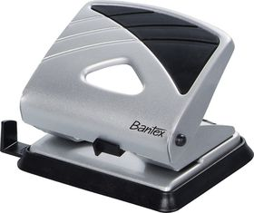 Bantex Office 2 Hole Metal Perforator - Silver