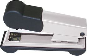 Bantex Metal Small Half Strip Home Stapler - Silver