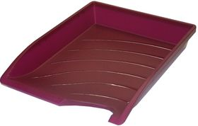 Bantex Optima Letter Tray - Burgundy