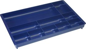 Bantex Desk Drawer Organiser - Blue (10 Compartment)