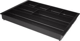 Bantex Desk Drawer Organiser - Black (7 Compartment)