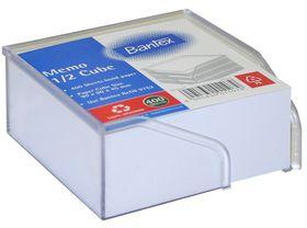 Bantex Memo Half Cube Plastic Holder - White