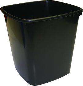 Bantex Waste Paper Bin 20 Litre Square - Black