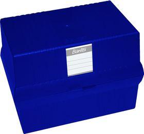 Bantex A5 Card File Box - Blue