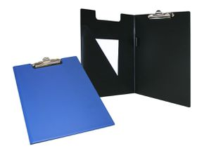 Bantex A4 PVC Folding Clipboard - Blue