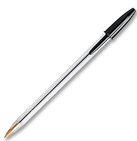 BIC Crystal Medium Xtra Life Ballpoint Pens - Black (Blister of 10)