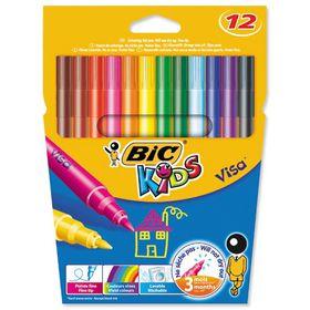 BIC Kids Visa 12 Felt Tip Pens