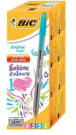 BIC Cristal Large Ballpoint Pens - Fashion Colours (Box of 20)