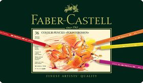 Faber-Castell Polychromos Coloured Pencils (Tin of 36)