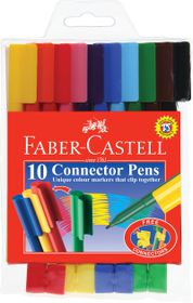 Faber-Castell Connector Pens (Pack of 10 Pens)