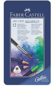 Faber-Castell Art Grip Aquarelle Watercolour Pencils - Tin of 12