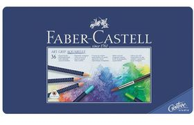 Faber-Castell Art Grip Aquarelle Watercolour Pencils - Tin of 36