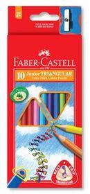 Faber-Castell Junior Triangular Colour Pencils (Pack of 10)