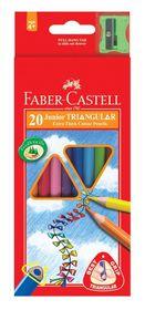 Faber-Castell Junior Triangular Colour Pencils (Pack of 20)