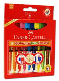 Faber-Castell Connector 10 Twist Crayons