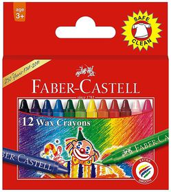 Faber-Castell 12 Slim Wax Crayons