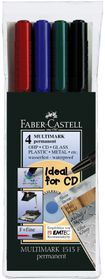 Faber-Castell Multimark Permanent Fine - Set Of 4