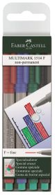 Faber-Castell Multimark Non-Permanent - Superfine (Wallet of 4 Colours)