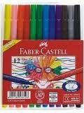 Faber-Castell Fibre Tip Pens - Wallet of 12