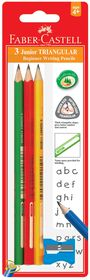 Faber-Castell Junior Triangular Graphite 2B Pencils (Pack of 3)