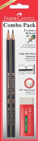 Faber-Castell Carded 2 HB pencils Met & Sharp L & Eraser