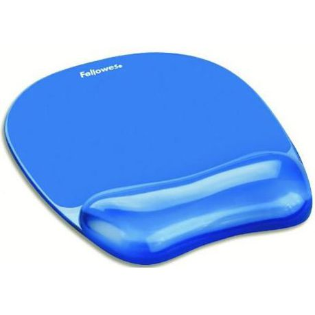 fellowes crystals gel mouse pad wrist rest blue buy online in