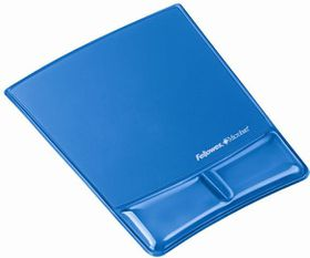 Fellowes Health-V Crystals - Mouse Pad/Wrist Support - Blue