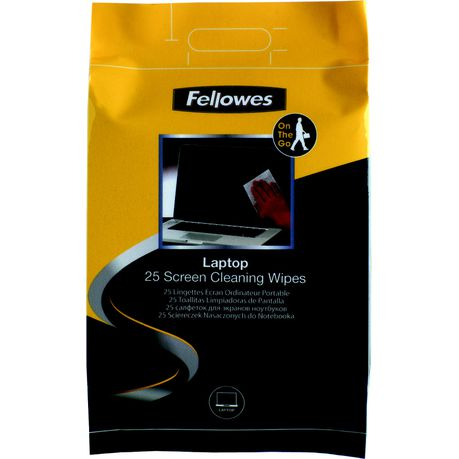 Fellowes Laptop Screen Cleaning Wipes (Pack of 25)