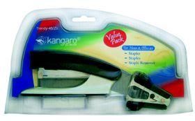 Kangaro Trendy Value Pack 45/Z3 (Half Strip Stapler, Staple Remover & 1 Box of Staples)