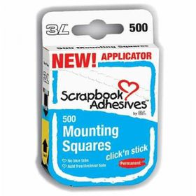 3L Mounting Squares - Click 'n Stick Applicator (Pack of 500 Squares)