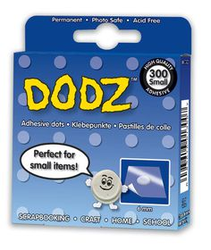 3L EZ Dodz Clear Adhesive Dots - Small (Pack of 300 Dodz)